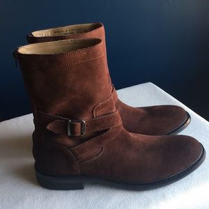 Cole Haan men's brown suede boots sz 9.5